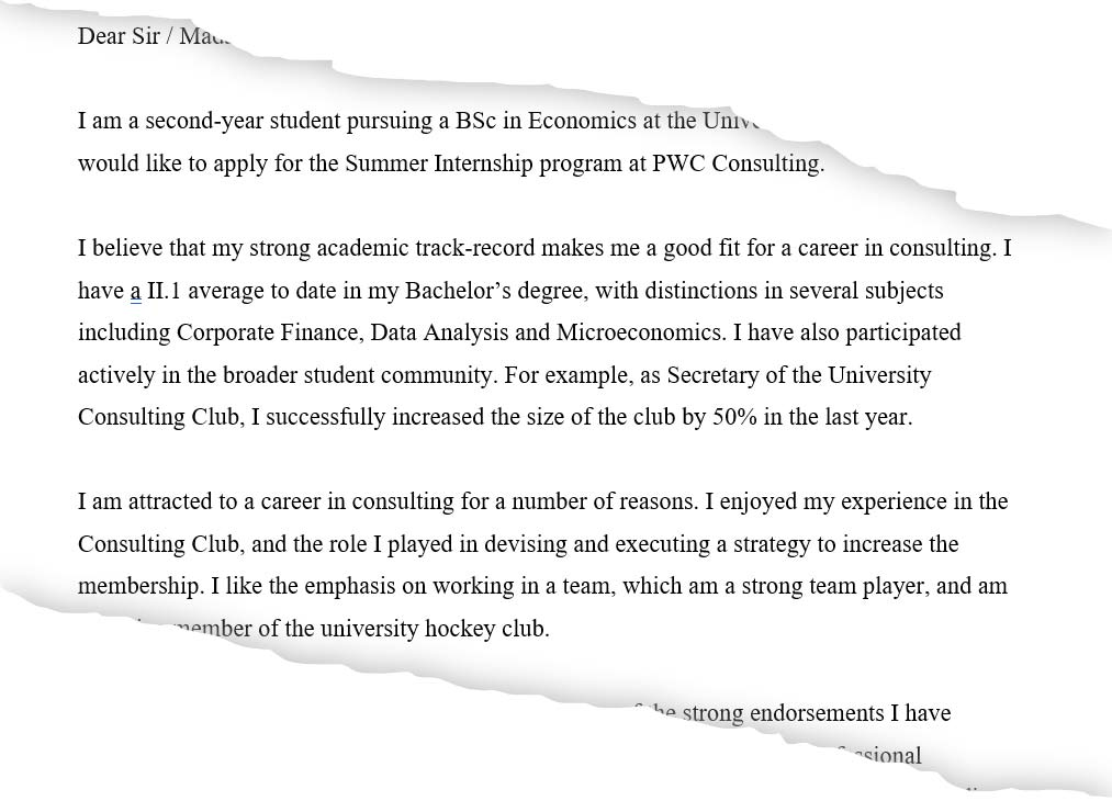 Should I Do A Cover Letter from consultingschool.com